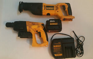 Dewalt 24 Volt Sds Rotary Hammer Drill And Reciprocation Saw