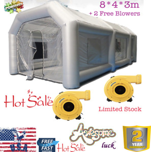26ft Inflatable Giant Car Workstation Spray Air Paint Booth Tent 8 4 3m W Fans