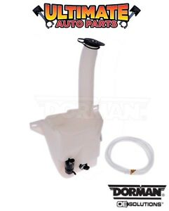 Windshield Washer Fluid Reservoir Bottle Jug W Pump For 00 05 Cadillac Deville