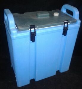 Cambro Insulated Soup Carrier 350lcd Blue W green Top Our 3