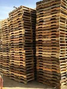Used Recycled Wood a Pallets 48 X 40 4 way Pallets 8 75 Ea Pick up Only