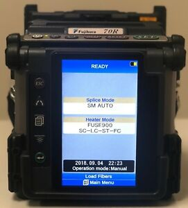 Fujikura 70r Fusion Splicer Looks Brand New 86 Arcs North American License