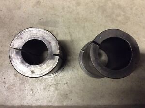 Lot Of 2ea Lathe Tool Holder Bushings 3 Od 2 Id 1 5 Id Fits Cn