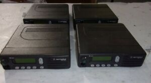 Lot Of 4 motorola Mcs2000 M01hx 812w Two way Mobile Radio See Notes