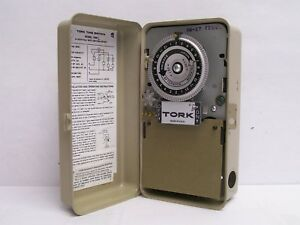 Tork 7200l Dpst Time Control Clock 120v Rated 40a Load Used Free Shipping