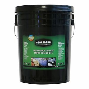 Liquid Rubber Waterproof Sealant coating 5 Gallon Original Black Enviro