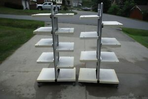 Retail Department Store Display Shelves Racks Used Rolling Multiple Us