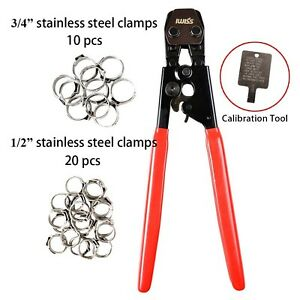 Iwiss Pex Clamp Cinch Tool Crimping Tool Crimper For Stainless Steel Clamps F