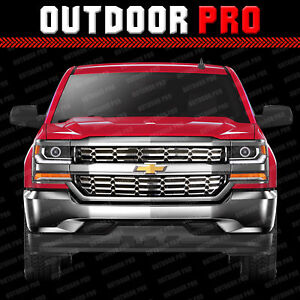 2016 2018 Chevy Silverado 1500 Grill Overlay Cover Inserts Chrome Grille Snap On
