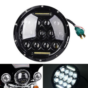 7 Motorcycle Projector Daymaker Headlight Hi lo Led Light Kit Tool For Harley