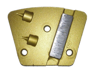 Trapezoid Style Pcd Coatings Removal Tool For Concrete Floors Clockwise Action