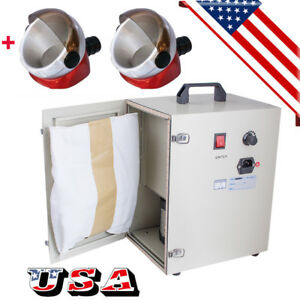 Dental Table Dust Collector Vacuum Cleaner Dust Collect Machine 2x Suction Base