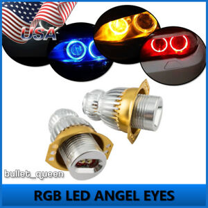 2x 40w Led Angel Eyes Light Ring Rgb Wifi Control For Bmw 06 08 E90 E91 3 Series