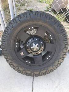 Nitto Trail Grappler M T 285 65r18 Tire Rockstar Xd 18 Wheels