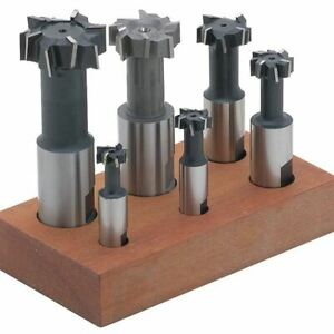 Ttc E225 6 Pc 1 4 3 4 Hss T slot Milling Cutter Set