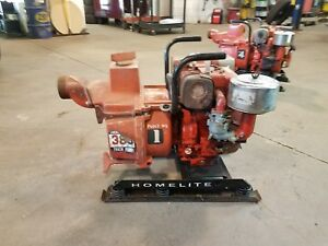 Homelite 328 Gpm Trash Pump 8 Hp Briggs And Stratton Motor 3 Inch