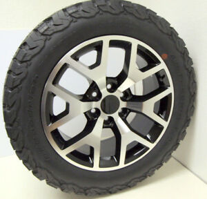 Gmc Sierra Yukon 20 Black And Machine Honeycomb Wheels Rims Bfg A t Tires