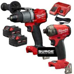 Milwaukee 2999 22 M18 Fuel 2 tool Hammer Drill And Hydraulic Driver Kit New