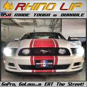 Universal Mustang Rubber Flexible Chin Spoiler Splitter Lip Trim Mimics a mach 1