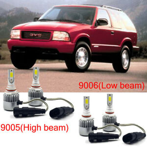 9005 Hb3 9006 Hb4 Led Headlight Kit Power Bulb 6000k For Gmc Jimmy 2001 1998 Car