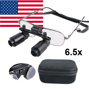 6 5x 300 500mm Dental Loupes Surgical Medical Binocular Loupe Glasses Magnifier