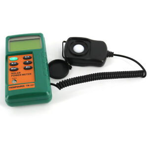 New Solar Power Meter Radiation Energy Tester Rm Sensor Tm 207 Tenmars