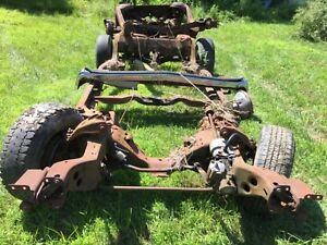 1973 Specific Rolling Car Frame 73 Olds Cutlass 442 73 Pontiac Gto Lemans 455