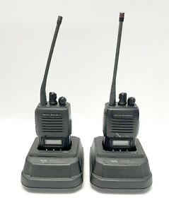 Used Pair Of Vertex Standard Vx 180u D Series Uhf Two way Radios Very Durable