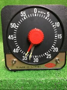 Vintage Industrial Timer Corp Time o lite Photography Timer Model Ezc 73 Wow