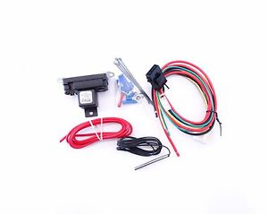 Electric Fan Controller Adjustable Switch Thermostat Hot Rod Universal
