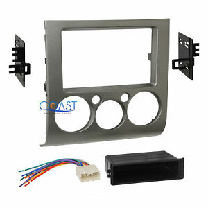 Car Radio Stereo Din 2din Silver Dash Kit Harness For 2004 12 Mitsubishi Galant