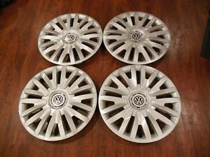 2010 2014 15 Fits Vw Volkswagen Golf Passat Jetta Hubcaps Set Of 4 Wheel Covers