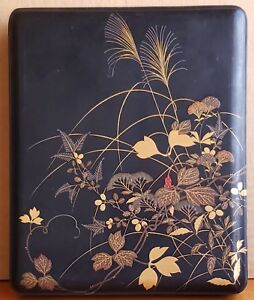 Antique Japanese Lacquer Box Urushi Paper Stationary Letter Box