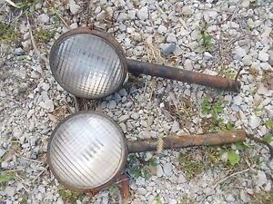 Allis Chalmers Wd Wd45 45 Tractor Orgnl Ac Front Post Lights Light
