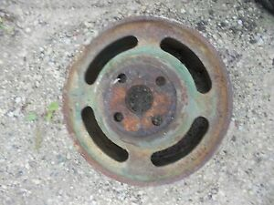 Oliver 70 Tractor Original Steel Flat Belt Pulley Real Nice Rare Hard To Find