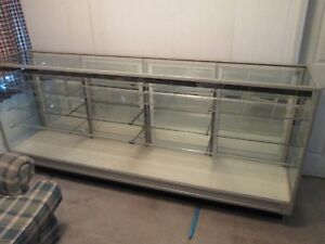 Vintage Glass Display Cabinet Store Fixture 8 Pickup Only