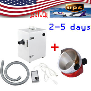 Portable Dental Lab Digital Single row Dust Collector Vacuum Cleaner Suction