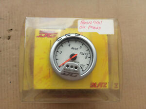 Blitz Racing Meter Dc Press Gauge Meter Jdm White Face