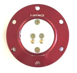 Nrg Steering Wheel Quick Release Bottom Male Base Red