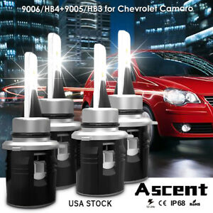 9005 Hb3 9006 Hb4 New Led Headlight Kit Bulbs For Chevrolet Camaro 2002 1999