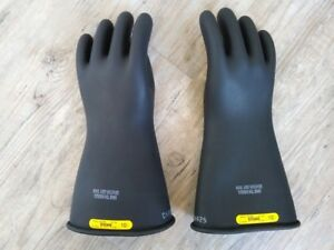 Mens High Voltage Rubber Insulating Gloves sleeves North Class2 Type1 10 5 Usa