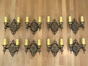 One Restored Antique Virden Winthrop Spanish Revival Wall Sconce Light Fixture