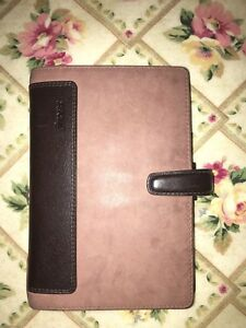 Filofax Holborn Nubuck Organizer planner Personal Size Brown Leather 17 026040