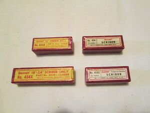 Vintage Scribers For Starrett 454 Height Gage Lot Of 4