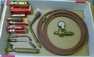Asco Air propane Heating And Soldering Torch Kit 6 Tips Excellent Condition