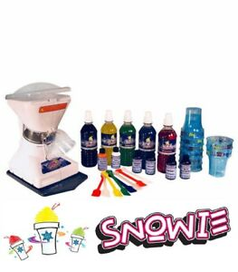 Little Snowie 2 Ice Shaver Premium Snow Cone shaved Ice Machine With 6 Flavors