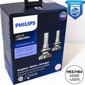 Philips Xtreme Ultinon Led Hb3 9005 Hb4 9006 Car Headlight Bulbs 6500k 200