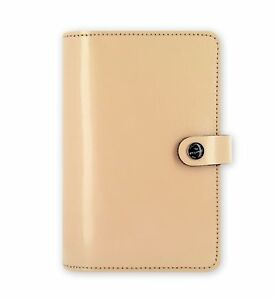 Filofax The Original Patent Nude Personal Size Leather Organizer Agenda Ring