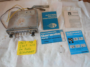1967 Mercedes Benz W111 Blaupunkt Am 6 Or 12 Volt Radio Data Sheets W110 Vw