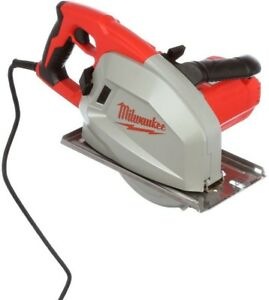 13 Amp 8 In Metal Cutting Circular Saw Corded Dry cut Durable Blade Shield Red